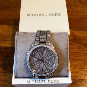 c7e4e6e71 MICHAEL Michael Kors Accessories - Slim Runway Pave Silver Tone Watch